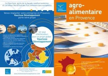 Agro-alimentaire en Provence - Vaucluse Développement
