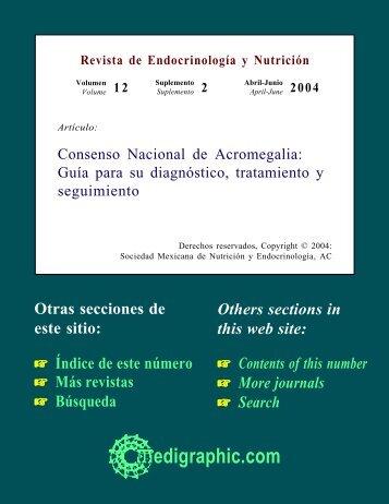 Consenso Nacional de Acromegalia: Guía para su ... - edigraphic.com