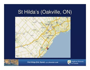 St Hilda's (Oakville, ON) - Anglican Network in Canada