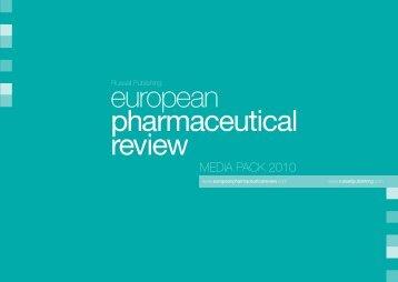 MEDIA PACK 2010 - European Pharmaceutical Review