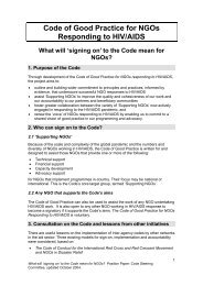 IFRC: Code of Good Practice for NGOs Responding to HIV/AIDS