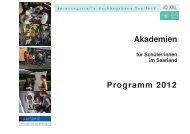 10. Saarländische JuniorAkademie - Deutsche JuniorAkademien