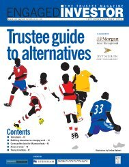 Trustee Guide to Alternatives - Engaged Investor