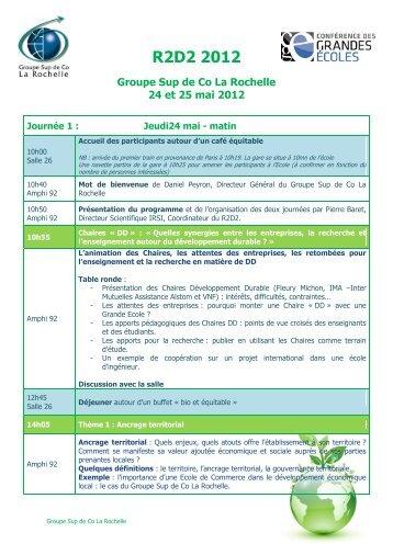 R2D2 2012 - ESC La rochelle
