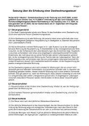 Satzung über die Erhebung einer Zweitwohnungssteuer