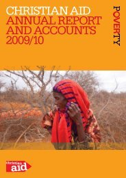 christian aid annUaL rEPOrt and accOUnts 2009/10