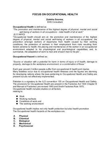 EHS RISK ASSESSMENT AND MANAGEMENT - IEP Karachi Centre