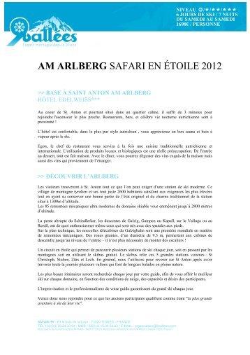AM ARLBERG SAFARI EN ÉTOILE 2012 - Ski Safari 9 vallées