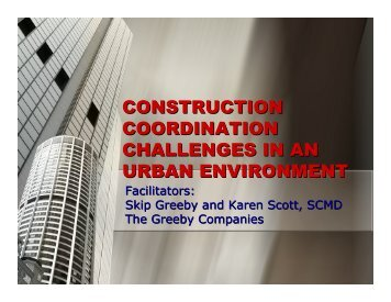 construction coordination challenges in an urban environment