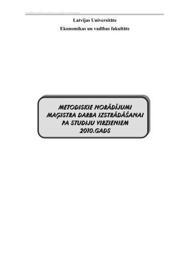 Vadības informācijas sistēmas - EVF - Latvijas Universitāte