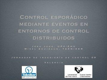 Control por eventos en entornos de control distribuidos
