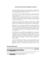 L'évolution des services juridiques en France - le cercle du barreau