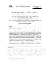 Nutritional disease:Bowel conditions and diseases - Journal of ...