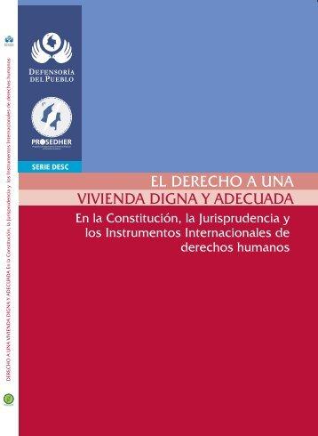 Derecho a la Vivienda Digna PDF - Defensoría del Pueblo