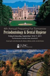 Periodontology & Dental Hygiene - UNC School of Dentistry ...