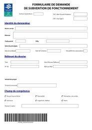 formulaire de demande de subvention de fonctionnement - Caf.fr