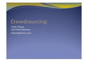 Crowdsourcing presentation - ANZSI