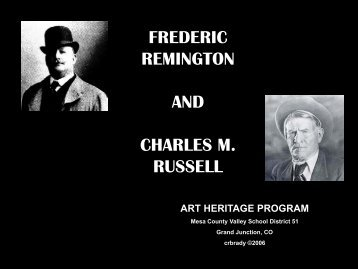 FREDERIC REMINGTON AND CHARLES M. RUSSELL - Art Heritage