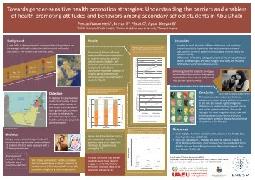 Towards gender-sensitive health promotion strategies ... - EHESP