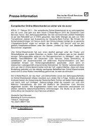 Presse-Information - Deutsche Card Services GmbH