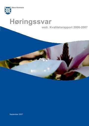Høringssvar fra skolerne 2006-2007 - Greve Kommune