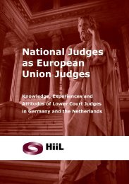 National Judges as European Union Judges - HiiL