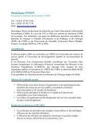Dominique FINON - Centre International de Recherche sur l ...