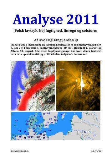 analyse 2011 - Dansk Brevduesport