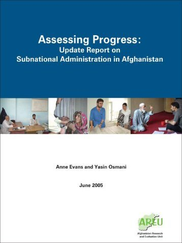 Assessing Progress Update Report on Subnational Administration in ...