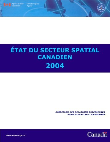 2004 - Agence spatiale canadienne