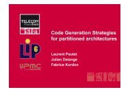 Code Generation for partitioned architectures - Julien Delange