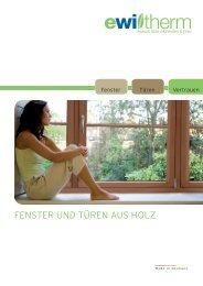 Prospekt Holzfenster - Glas Nagel