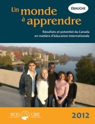 Étudiants internationaux - The Canadian Bureau for International ...