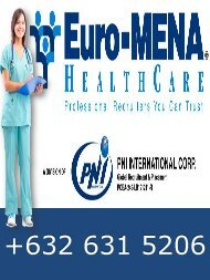 Euro-MENA Healthcare Recruiters, a division of PNI International Corp.