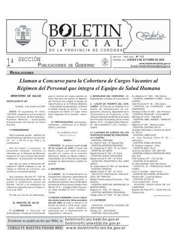 1ª SECCIÓN - Boletín Oficial de la Provincia de Córdoba
