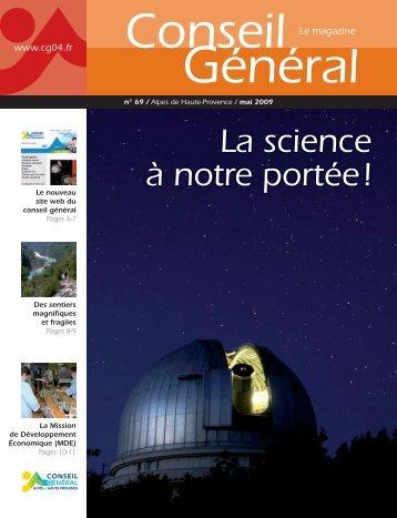 La science à notre portée ! - Alpes-de-Haute-Provence
