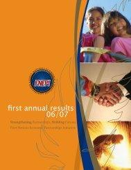 Aboriginal Economic Partnerships Annual Results 2006/2007