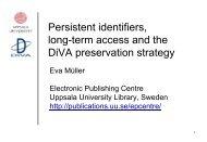 Persistent identifiers - Erpanet