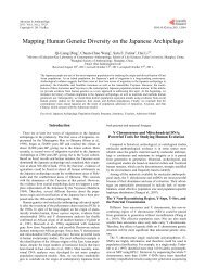 Mapping Human Genetic Diversity on the Japanese Archipelago
