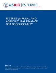FS Series #8: Rural and Agricultural Finance for Food Security