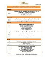 IT D EV EN T S C A LEN D A R 2013 - ITD GROUP - Institute of ...