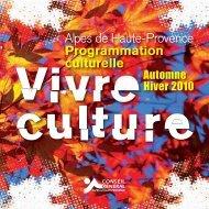 Alpes de Haute-Provence Programmation culturelle