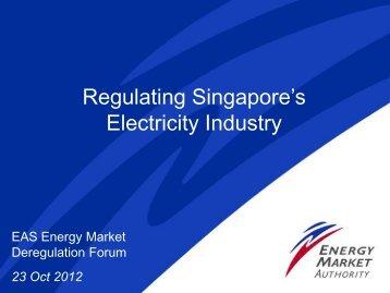 Regulating Singapore's Electricity Industry - ERIA