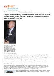 Gegen Abschiebung von Roma-Familien: Marinos und ... - Aktion 302