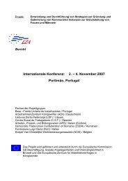 Internationale Konferenz: 2. – 4. November 2007 Portimão ... - EZA