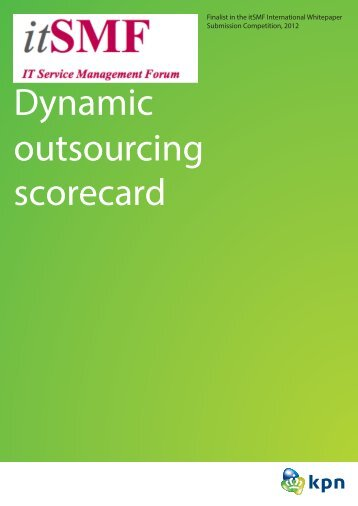 Dynamic outsourcing scorecard - itSMF International