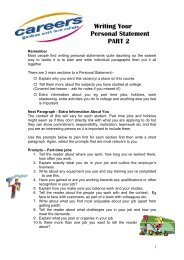 Writing Your Personal Statement PART 2