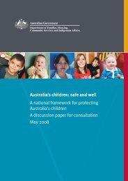 pdf [464kB] - Department of Families, Housing, Community Services