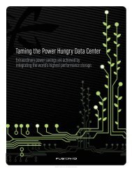 Taming the Power Hungry Data Center - Fusion-io