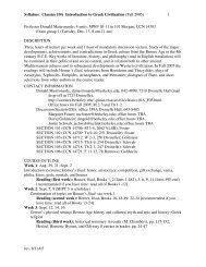Syllabus Classics 10A Introduction to Greek Civilization (Fall 2005 ...